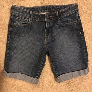 SO Girls Cuffed Denim Jean Shorts 🩳 Size 14